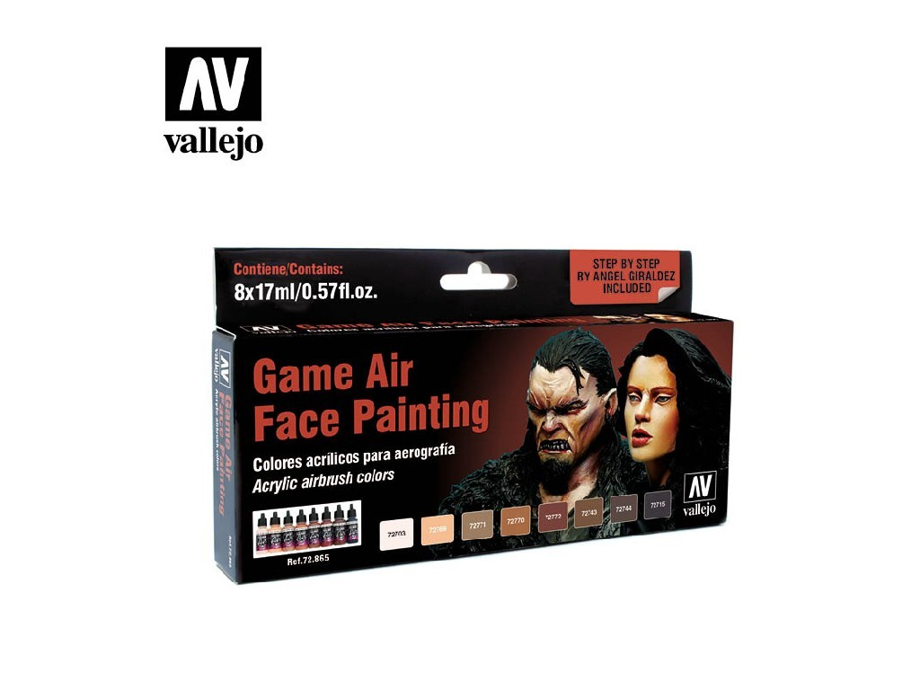 Vallejo Game Air Set - Face Painting by Angel Giraldez 8 x 17 ml. 72865