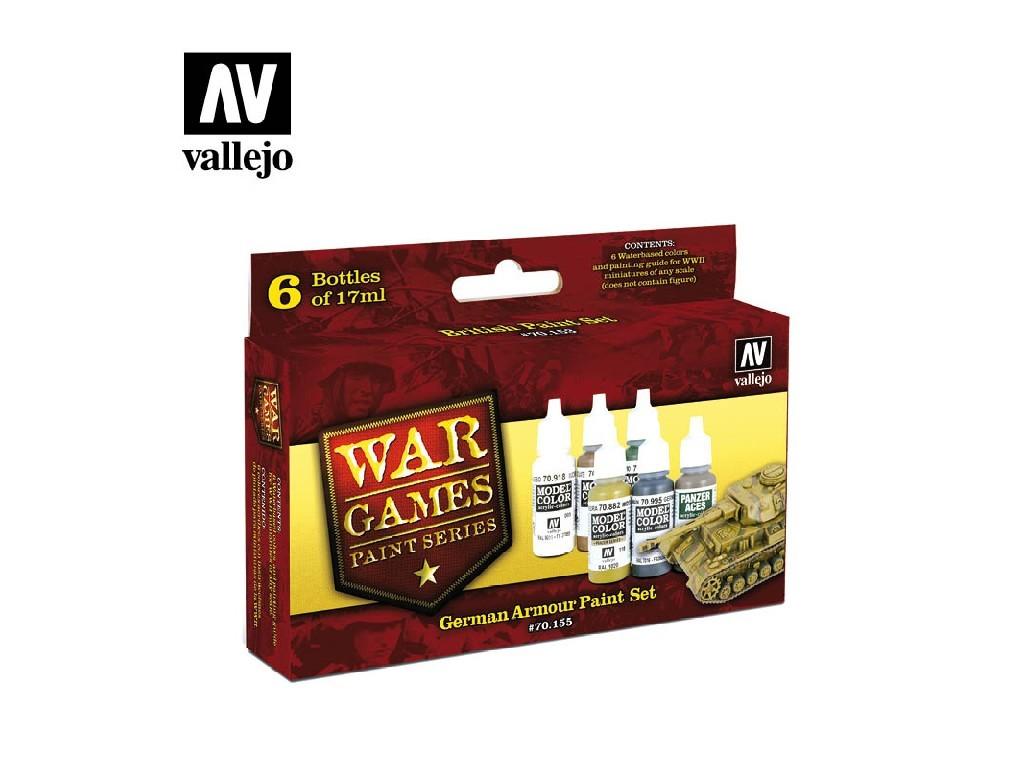 Vallejo Model Color Set - German Armour 6x17 ml. 70155