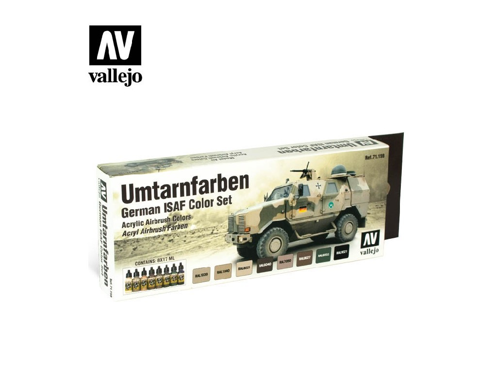 Vallejo Model Air Set - Umtarnfarben 8x17 ml. 71159