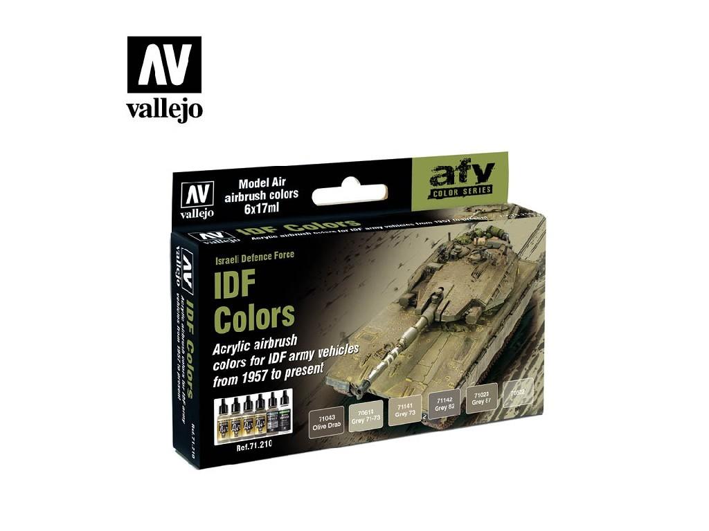 Vallejo - Model Air Set (AF) 71210 IDF Colors 6x17 ml.