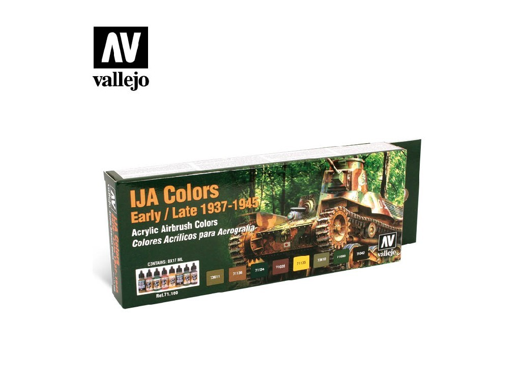 Vallejo - Model Air Set (AF) 71160 IJA Colors Early/Late 8x17 ml.