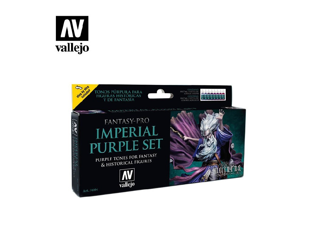 Vallejo Pro Nocturna Set - Imperial Purple 8 x 17 ml. 74104