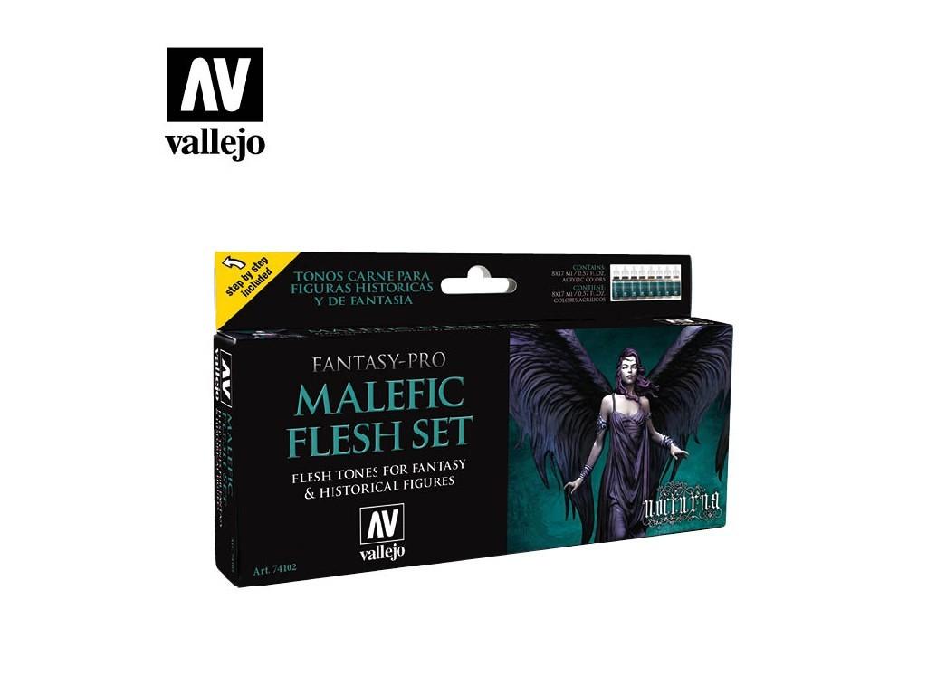 Vallejo Pro Nocturna Set - Malefic Flesh Set 8 x 17 ml. 74102