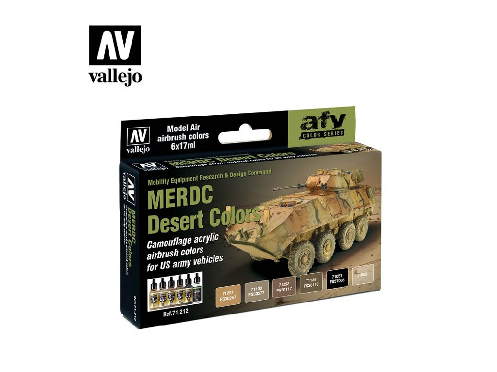 Vallejo Model Air Set - MERDC Desert Colors 6x17 ml. 71212