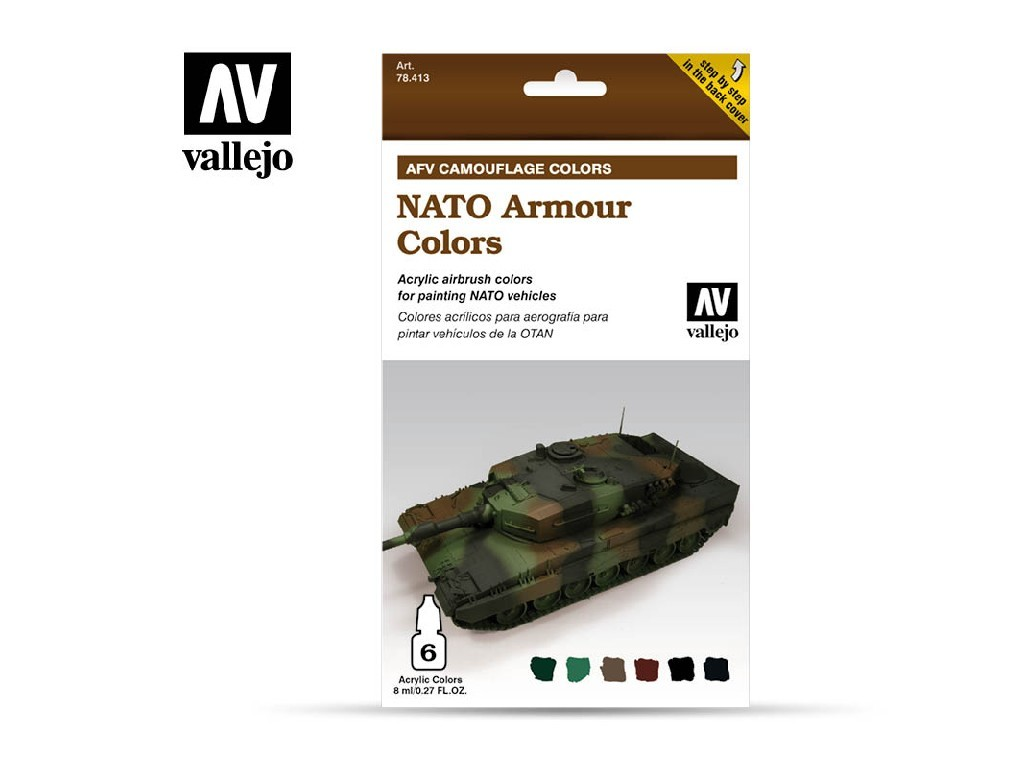 Vallejo Model Air Set - AFV NATO Armour Colors 6x8 ml. 78413