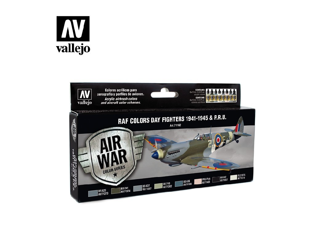 Vallejo Model Air Set - WWII RAF Day European 8x17 ml. 71162