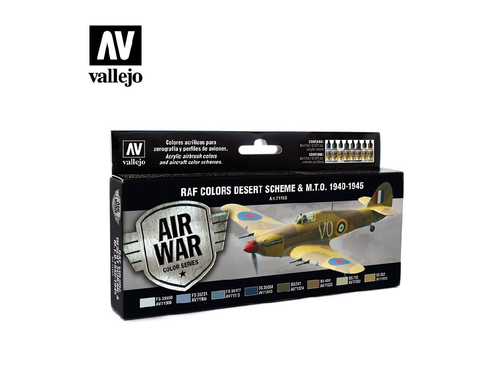 Vallejo Model Air Set - WWII RAF Desert 8x17 ml. 71163