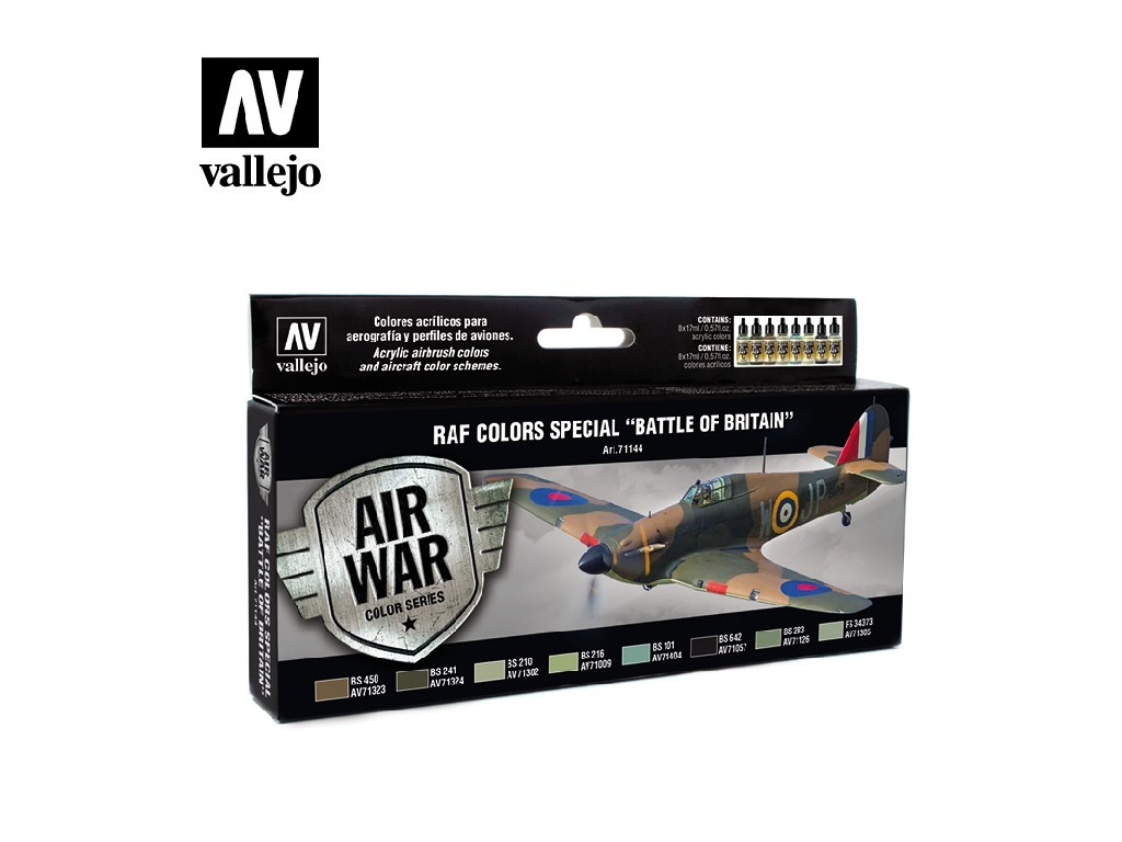 Vallejo Model Air Set - Special Battle of Britain 8x17 ml. 71144