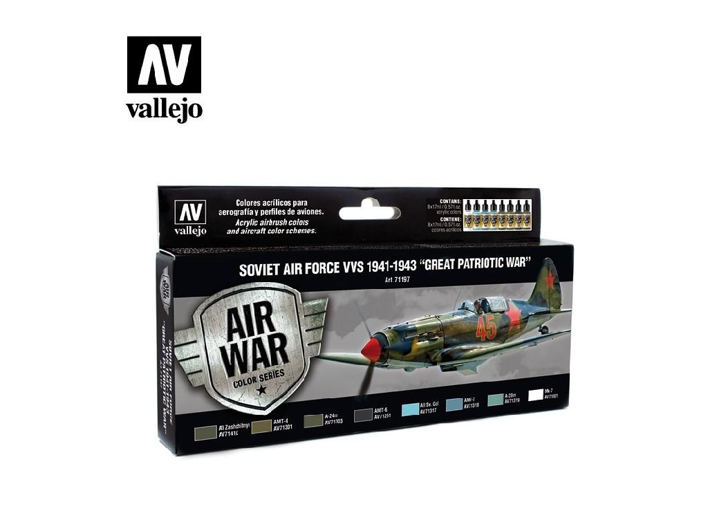 Vallejo - Model Air Set (AW) 71197 1941 To 1943 - Great Patriotic War 8x17 ml.