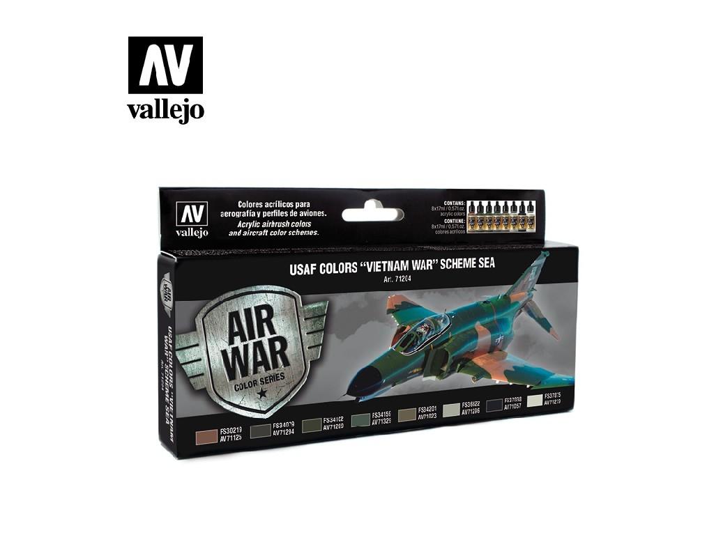 Vallejo Model Air Set - USAF Colors Vietnam War Scheme Sea 8x17 ml. 71204