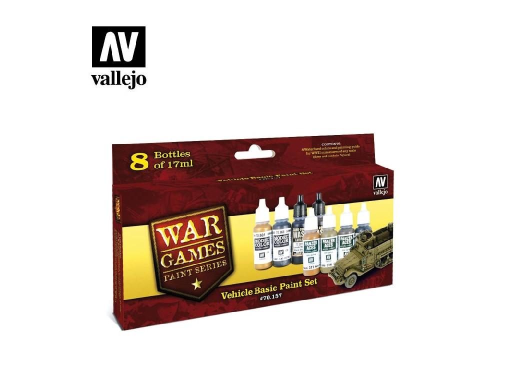 Vallejo Model Color Set - Vehicle Basic 8x17 ml. 70157