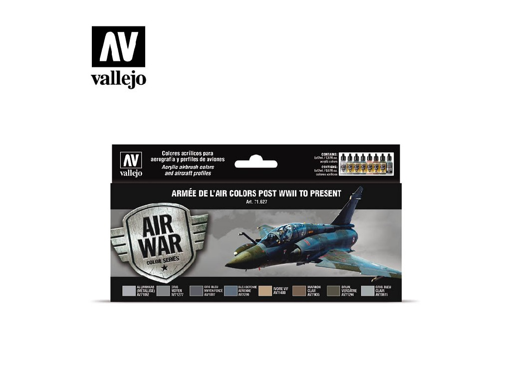 Vallejo Model Air Set - Armée de l'Air colors post WWII to present 8x17 ml. 71627