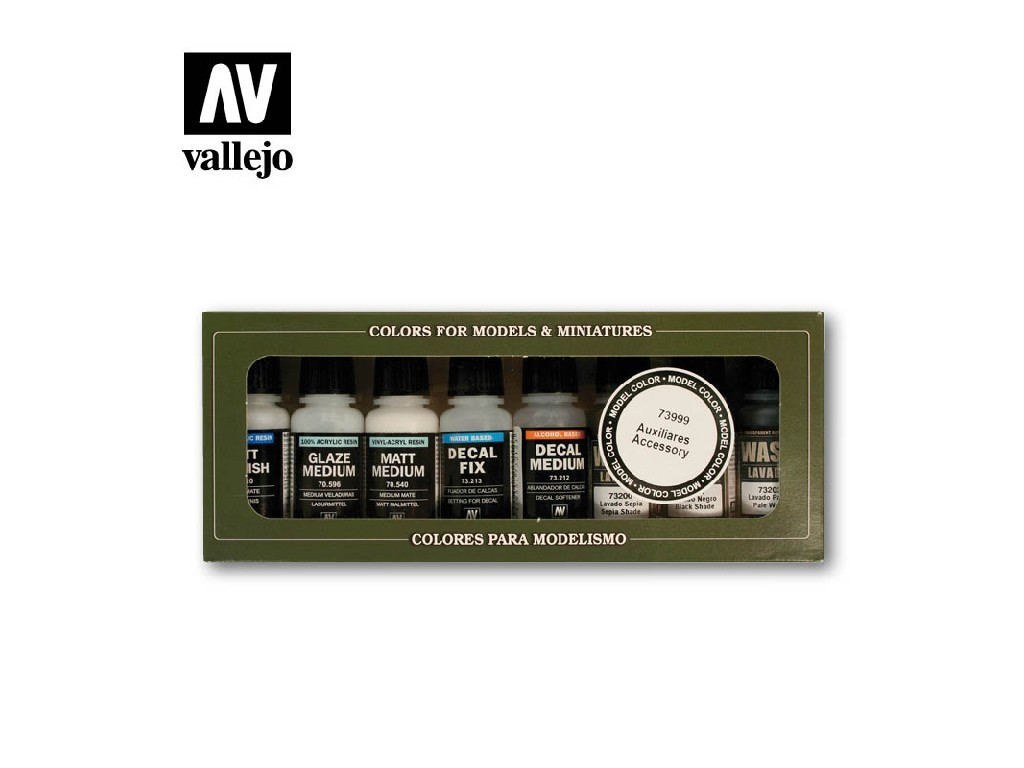 Vallejo Game Color Set - Auxiliaries and washes 8 x 17 ml. 73999