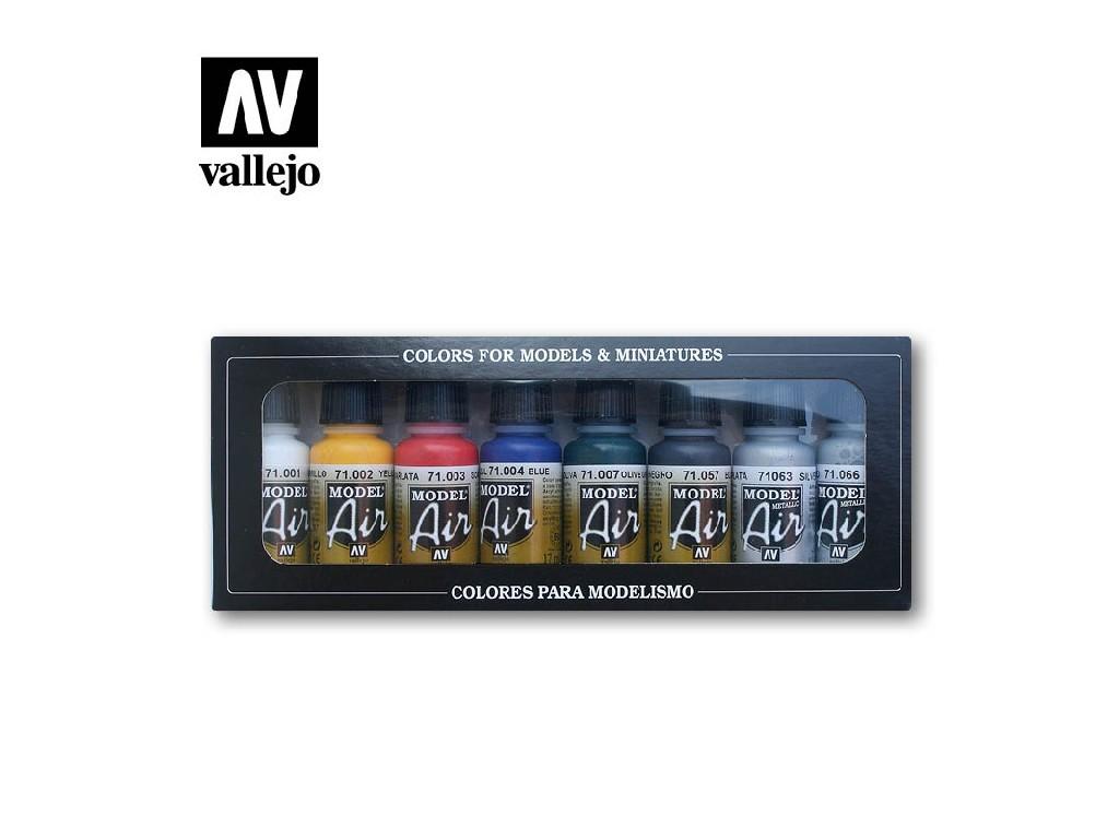 Vallejo - Model Air Set (BA) 71174 Basic Colors 8x17 ml.