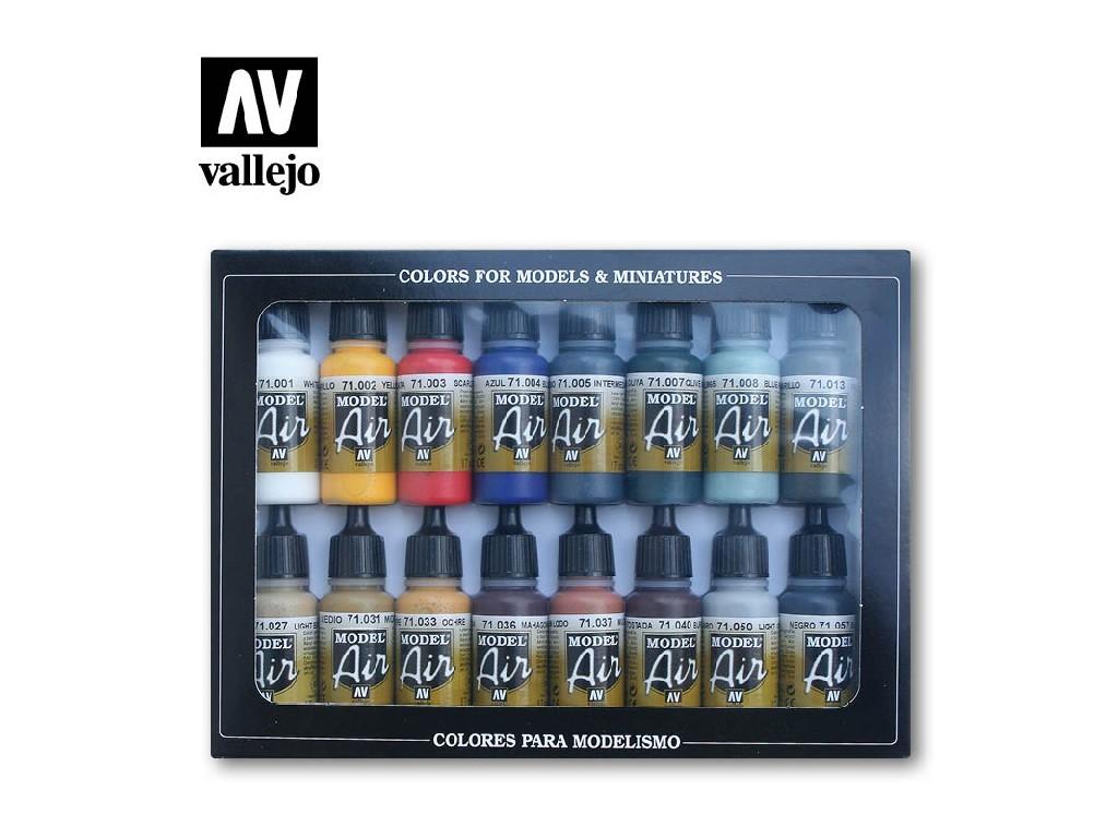 Vallejo - Model Air Set (BA) 71178 Basic Color Pack 16x17 ml.