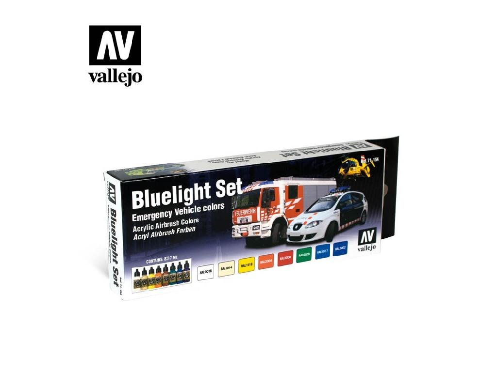Vallejo Model Air Set - Blaulicht Set 8x17 ml. 71154