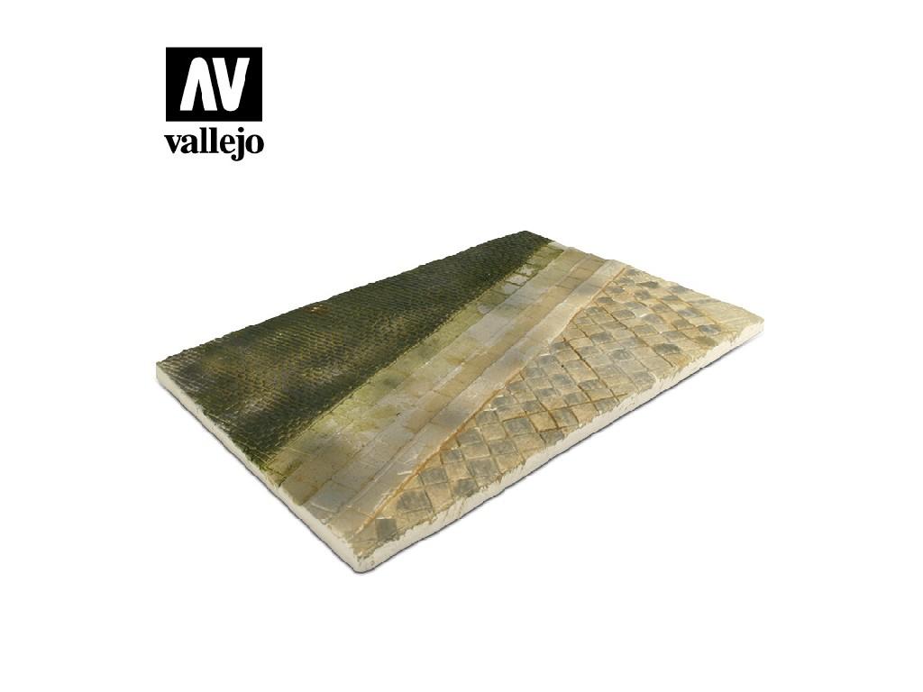 Vallejo - Scenics SC101 Dlážděná silnice 31x21cm 1/35