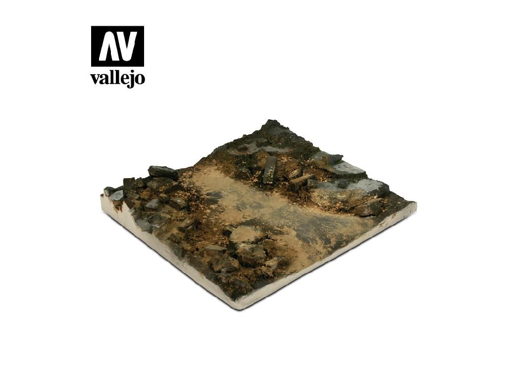 Vallejo - Scenics SC002 Štěrková cesta 14x14cm 1/35
