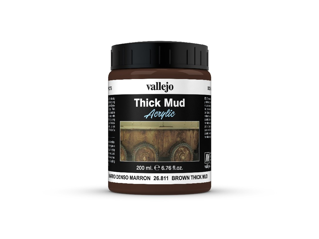 Vallejo Diorama Effects - Brown Thick Mud 26811 200 ml.