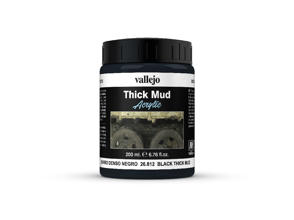 Vallejo Diorama Effects - Black Thick Mud 26812 200 ml.