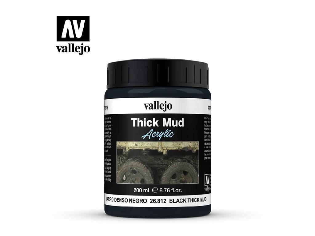 Vallejo - Diorama Effects 26812 Black Thick Mud 200 ml.