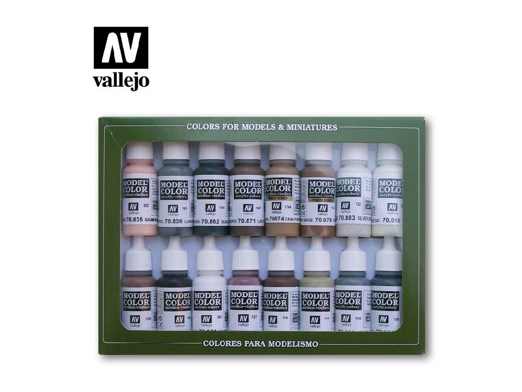 Vallejo Model Color Set - Equestrian Colors 16x17 ml. 70144