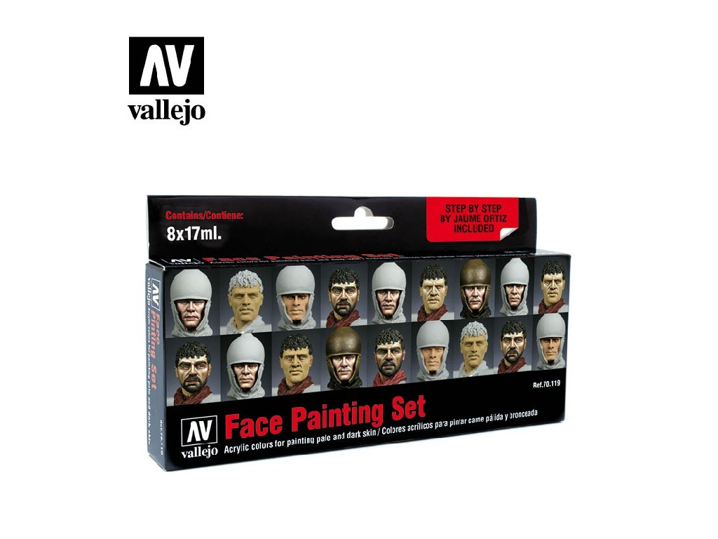 Vallejo Model Color Set - Faces Painting Set by Jaume Ortiz 8x17 ml. 70119