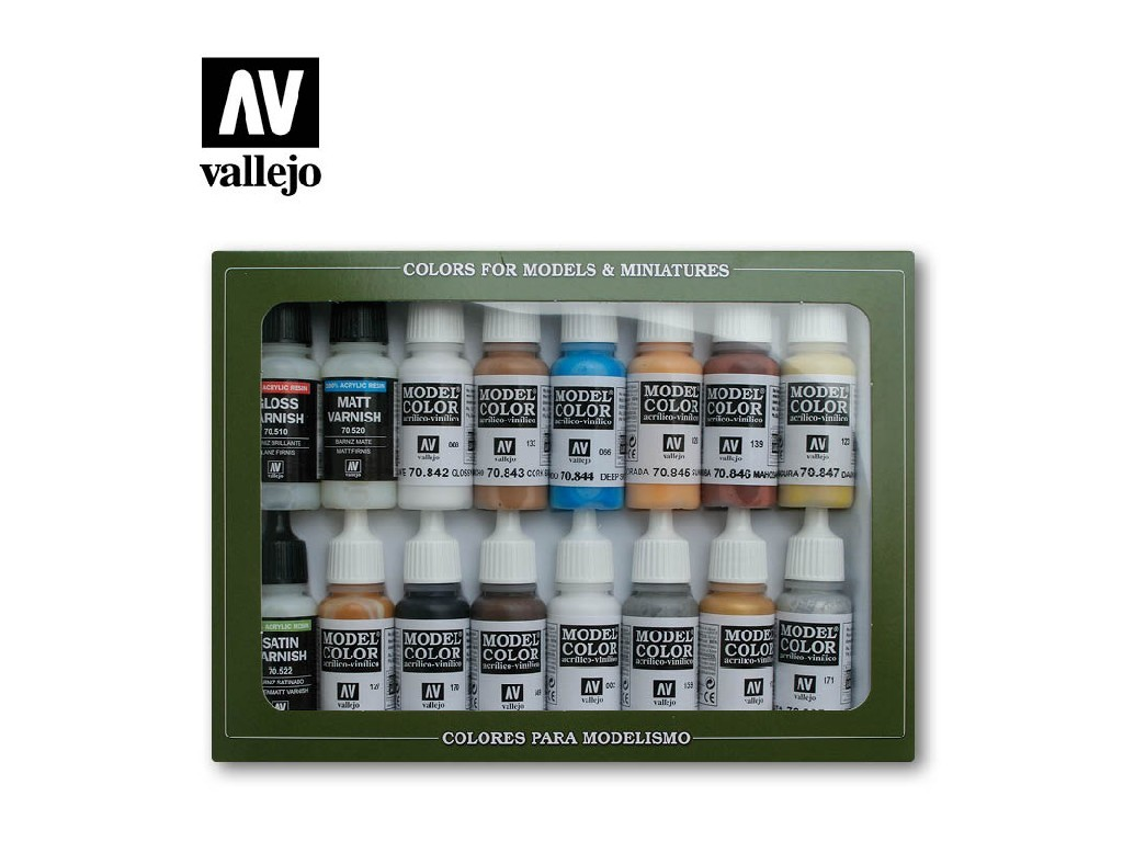Vallejo Model Color Set - Folkstone Special 16x17 ml. 70102