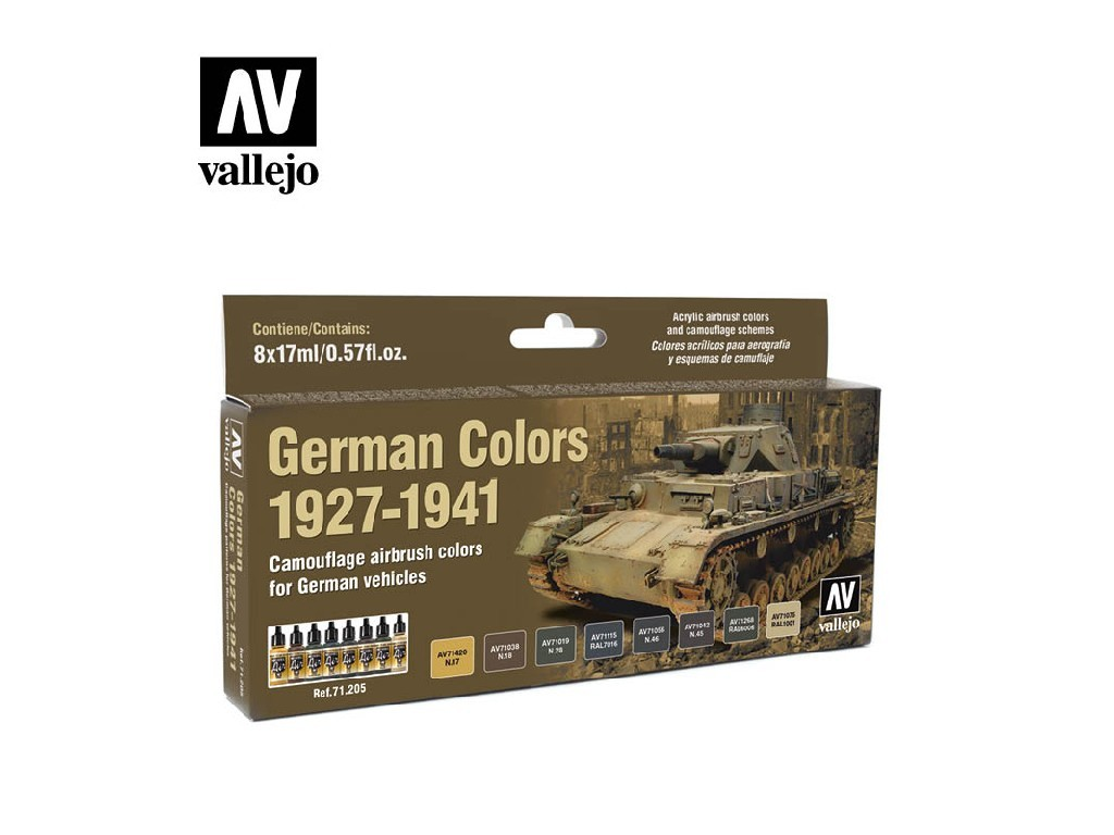 Vallejo Model Air Set - German WWII Colors 1927-1941 8x17 ml. 71205