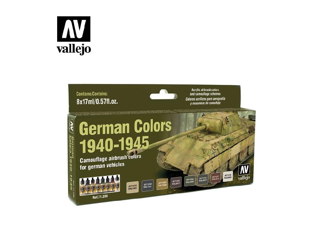 Vallejo Model Air Set - German WWII Colors 1940-1945 8x17 ml. 71206