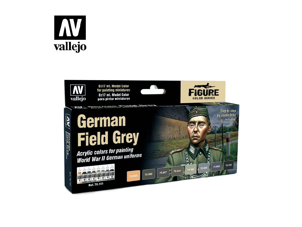 Vallejo Model Color Set - German Field Grey Uniform by Jaume Ortiz 8x17 ml. 70181