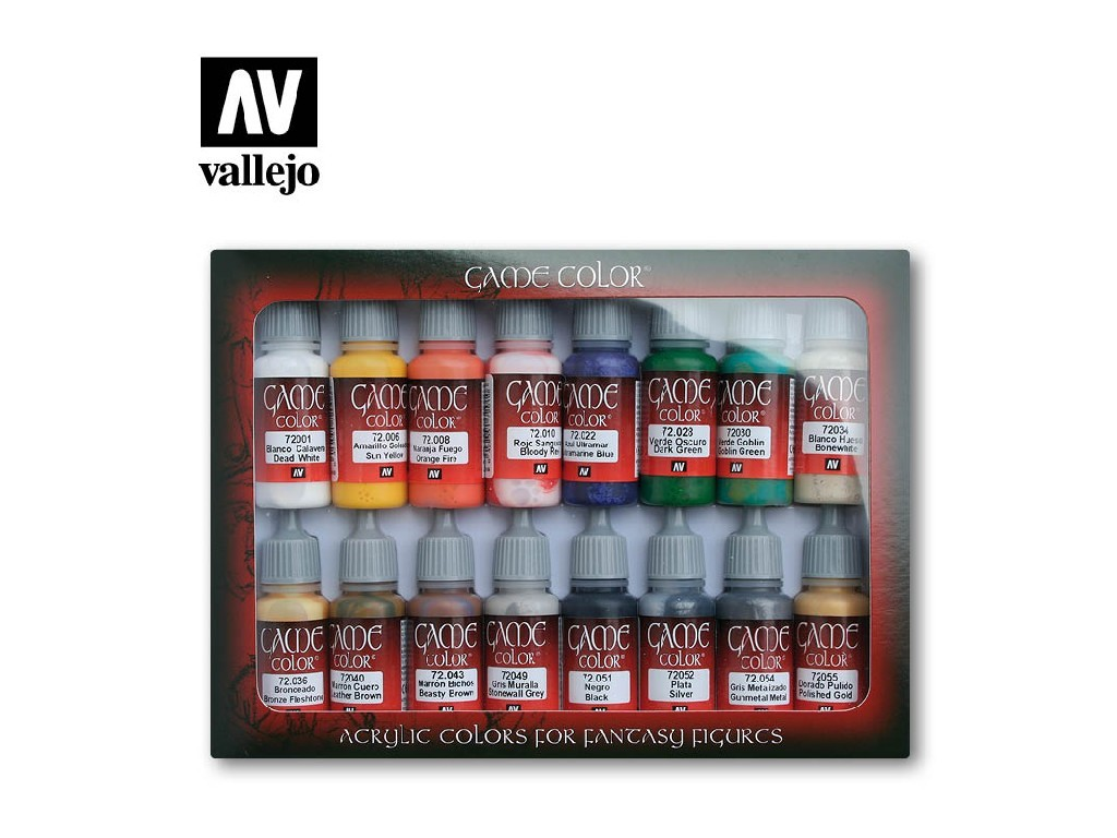 Vallejo Game Color Set - Introduction 16 x 17 ml. 72299