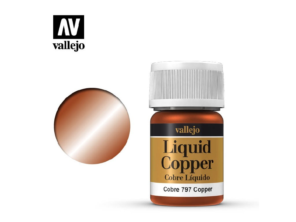 Vallejo Liquid - Gold Copper (Alcohol Based) 35 ml. 70797
