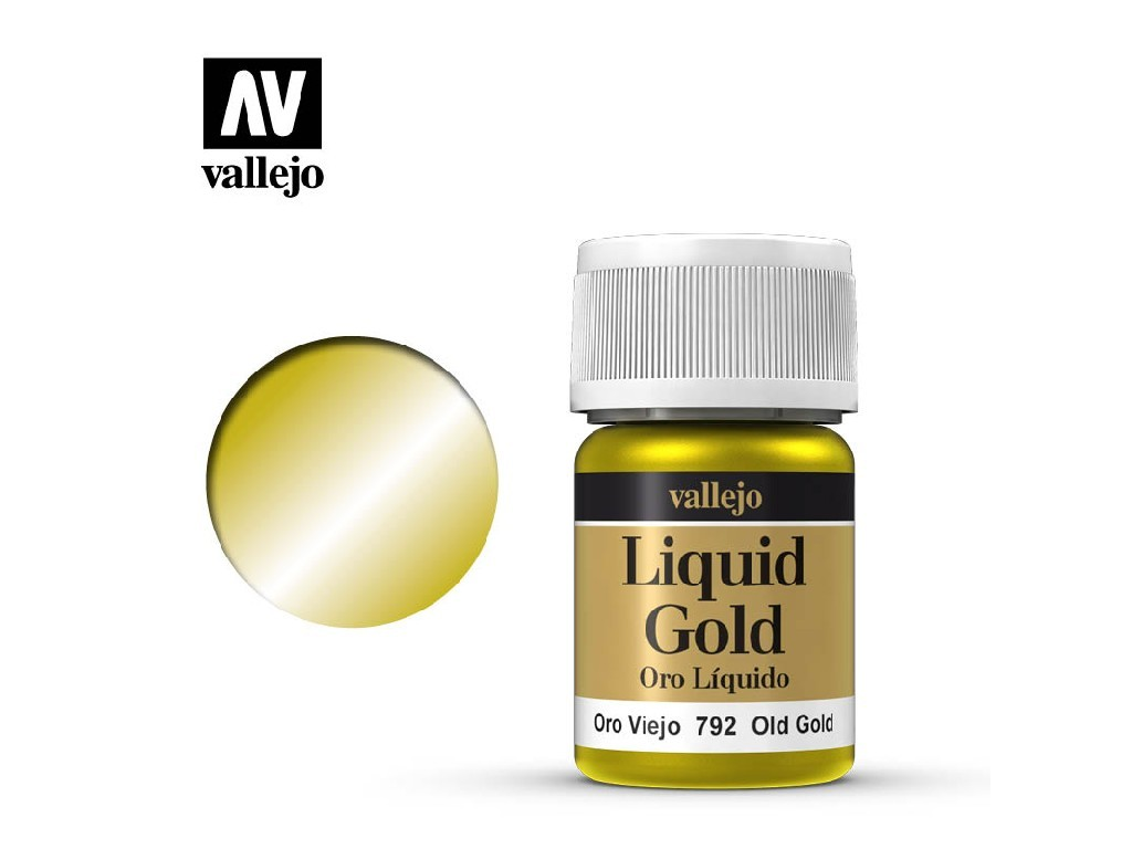 Vallejo Liquid - Gold Old Gold (Alcohol Based) 35 ml. 70792