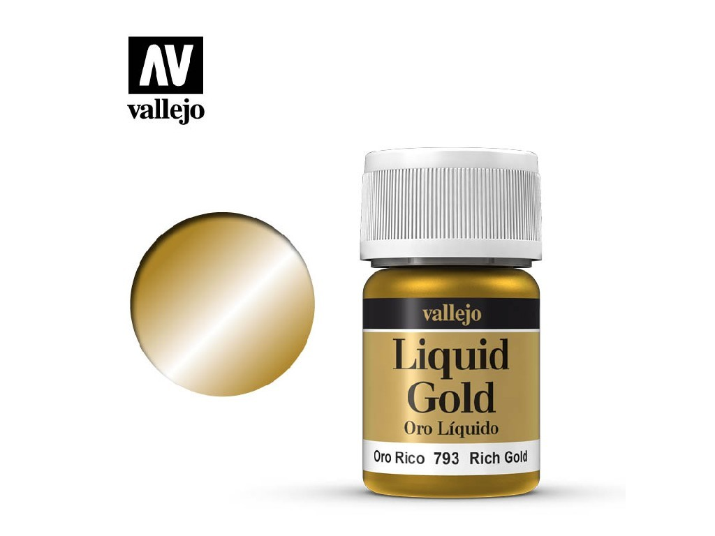 Vallejo Liquid - Gold Rich Gold (Alcohol Based) 35 ml. 70793