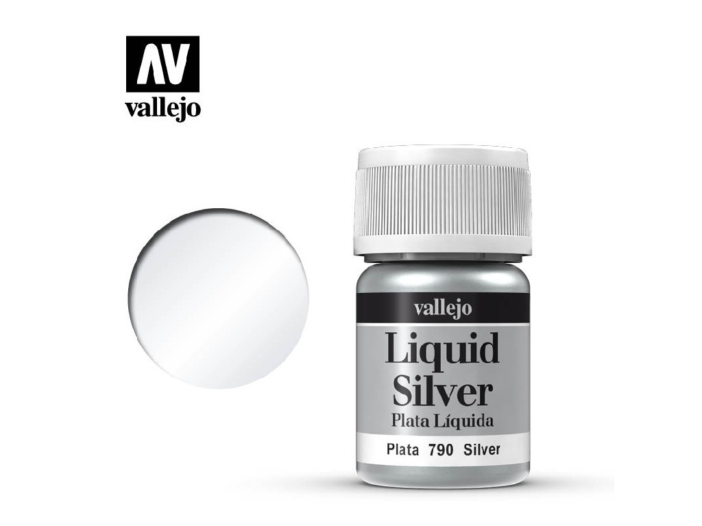 Vallejo Liquid - Gold Silver (Alcohol Based) 35 ml. 70790