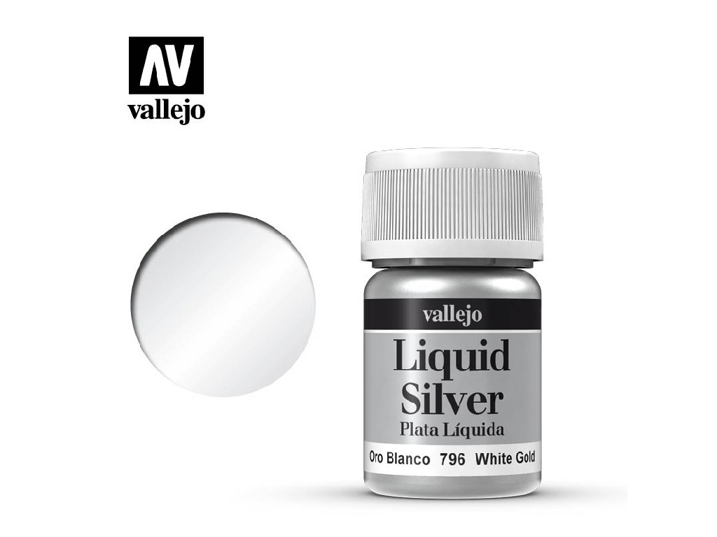 Vallejo Liquid - Gold White Gold (Alcohol Based) 35 ml. 70796