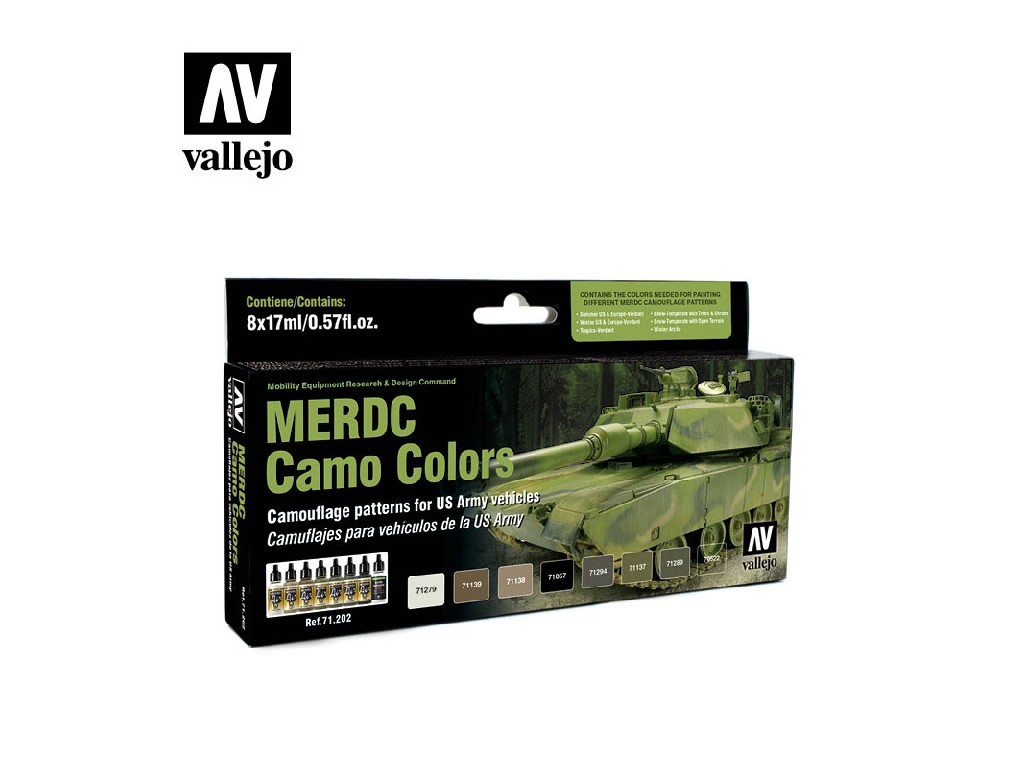 Vallejo Model Air Set - MERDC Camo Colors 8x17 ml. 71202