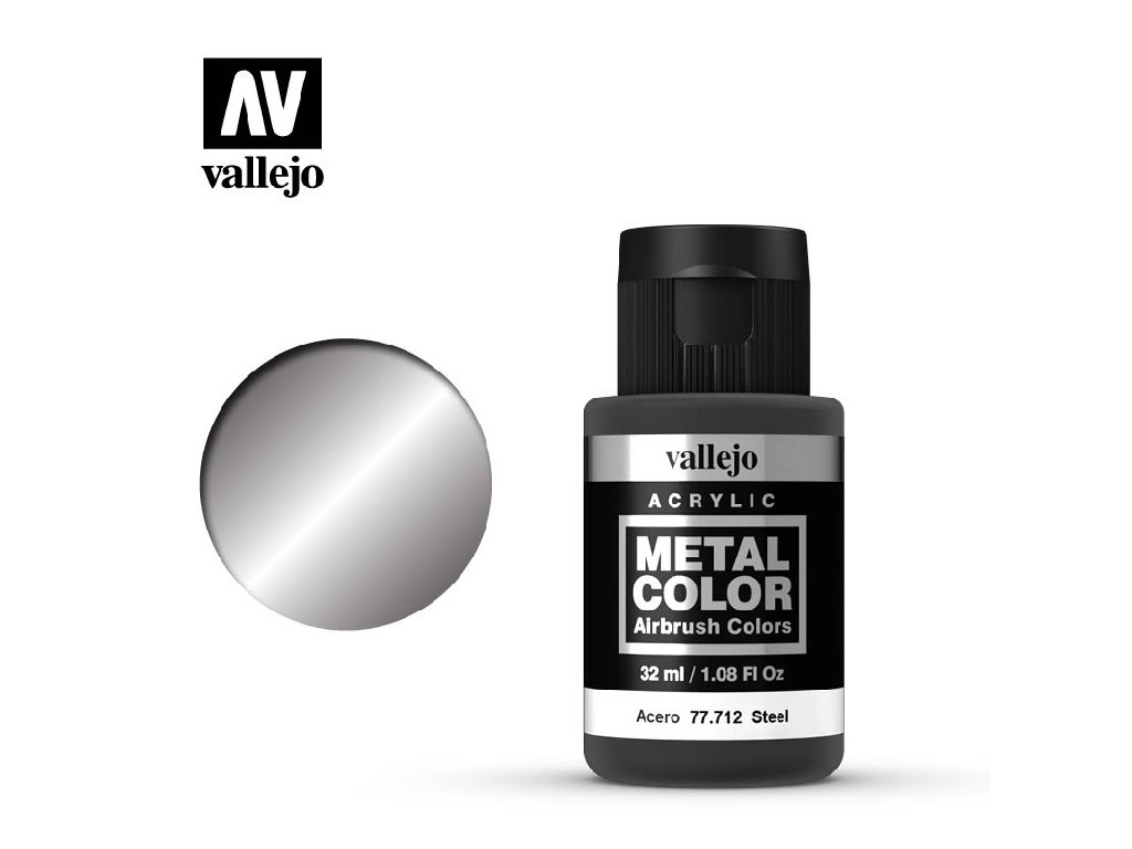 Vallejo - Metal Color 77712 Steel 32ml.