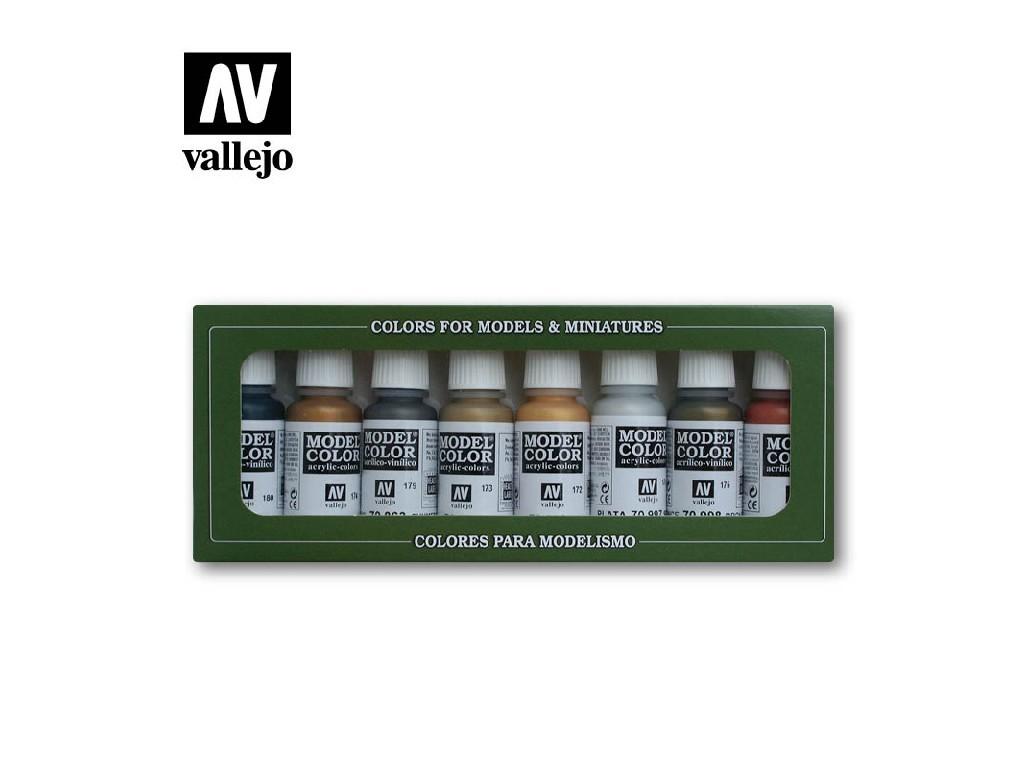 Vallejo Model Color Set - Metallic Colors 8x17 ml. 70118