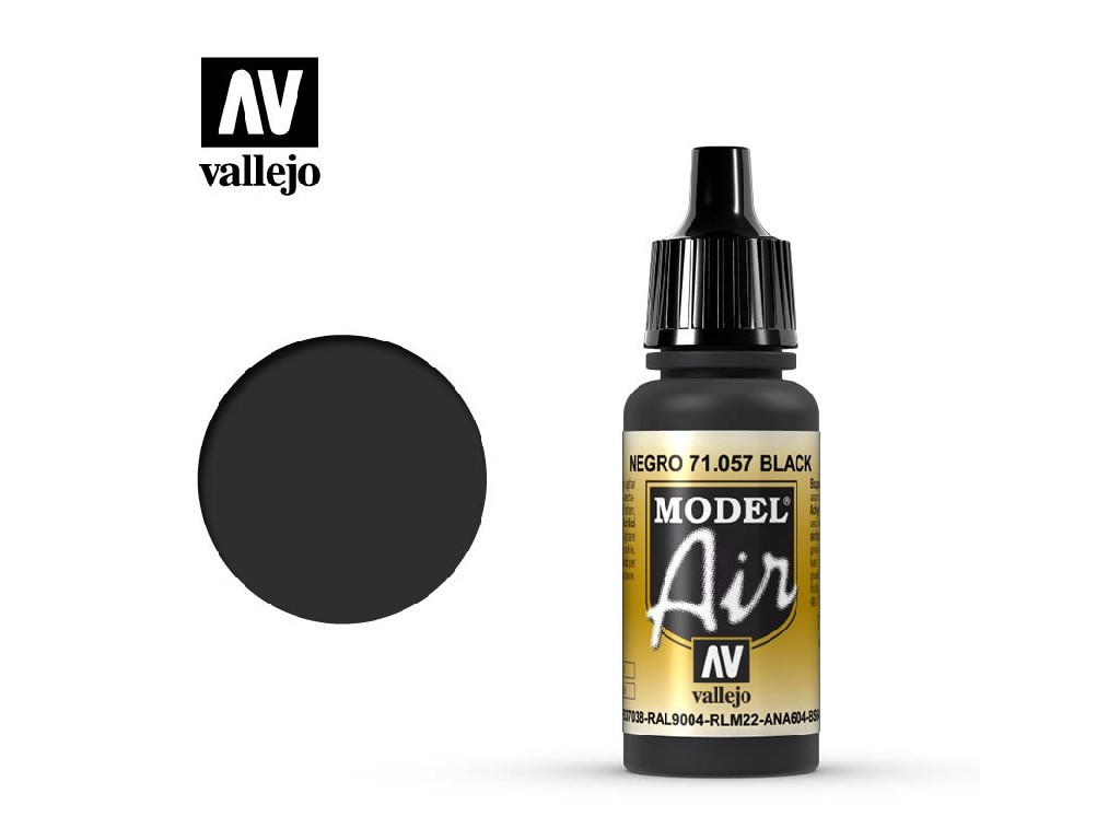 Vallejo Model Air - Black 17 ml. 71057