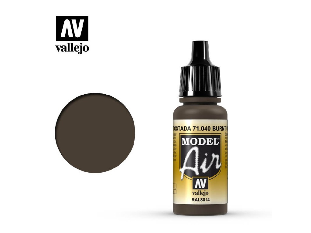 Vallejo Model Air - Burnt Umber 17 ml. 71040