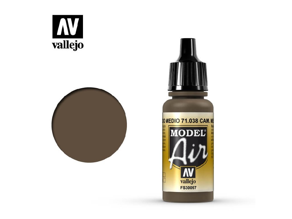 Vallejo Model Air - Camouflage Medium Brown 17 ml. 71038