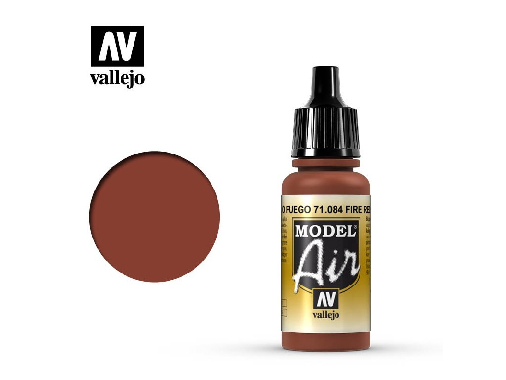 Vallejo Model Air - Fire Red 17 ml. 71084