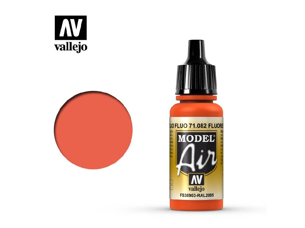 Vallejo Model Air - Fluorescent Red 17 ml. 71082