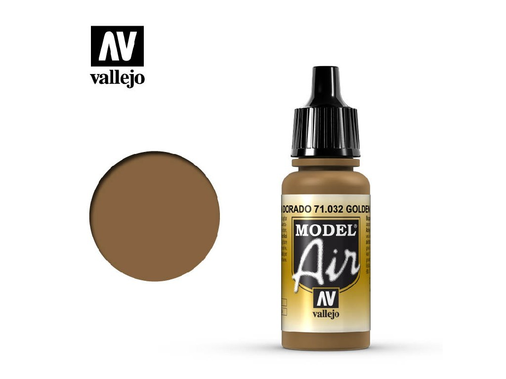 Vallejo Model Air - Golden Brown 17 ml. 71032