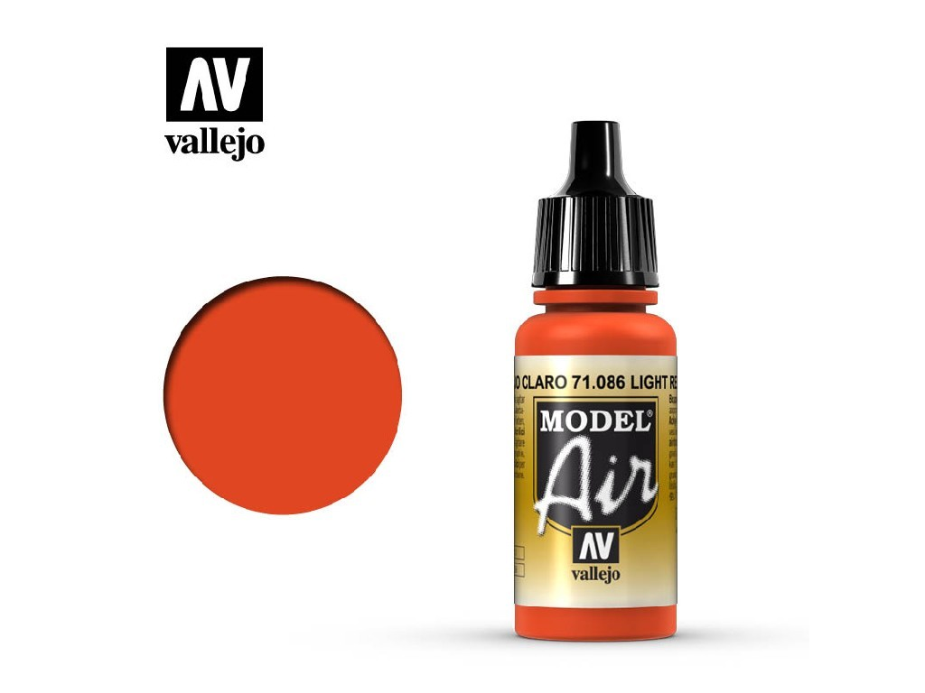 Vallejo Model Air - Light Red 17 ml. 71086