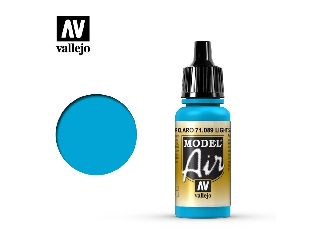 Vallejo Model Air - Light Sea Blue 17 ml. 71089