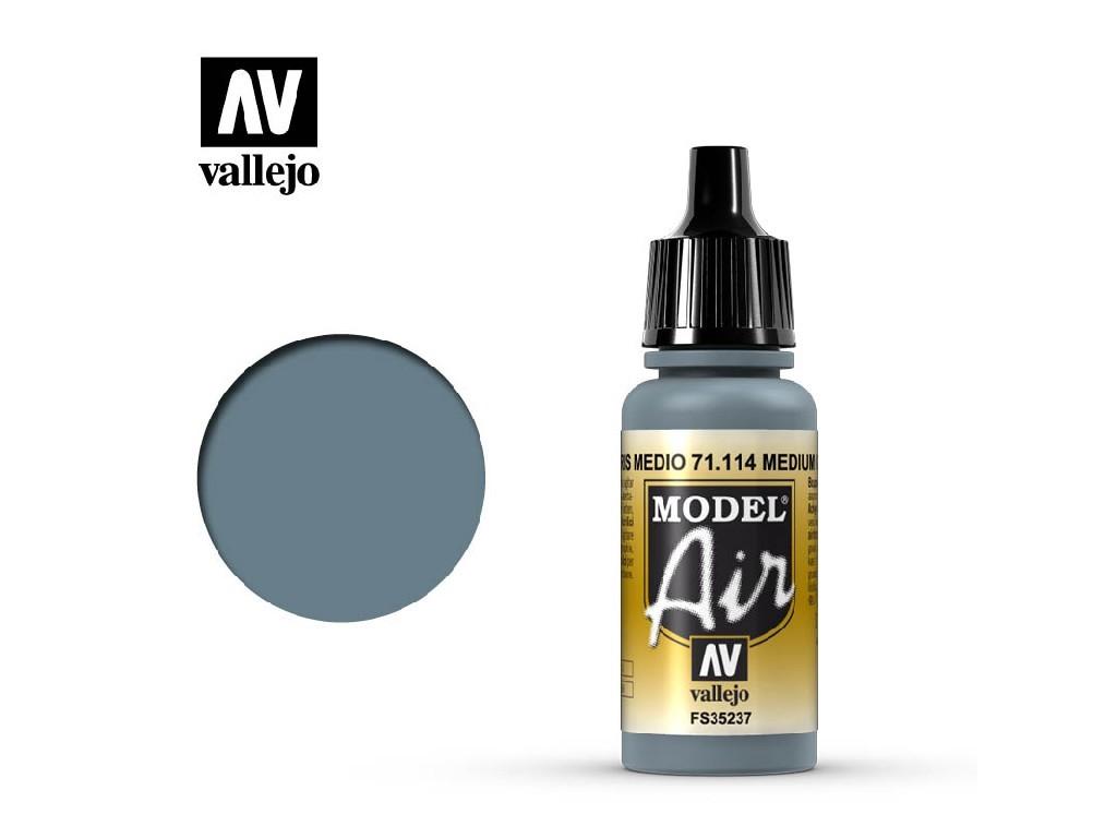 Vallejo Model Air - Medium Gray 17 ml. 71114