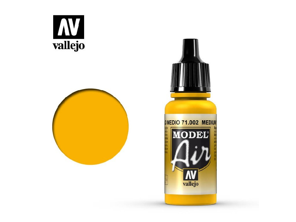 Vallejo - Model Air 71002 Medium Yellow 17 ml.